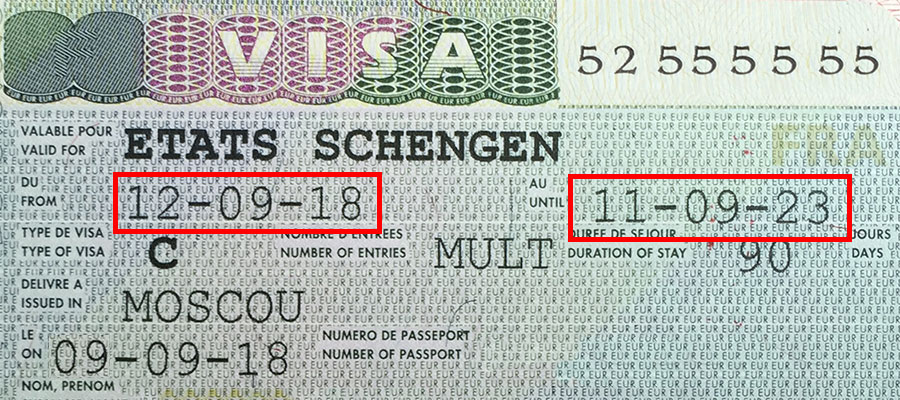 Где посмотреть даты предыдущей шенгенской визы